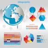 диаграммы элементов infographic Стоковая Фотография RF