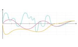 Диаграммы элементов рынка коммерческих информаций Стоковые Фотографии RF