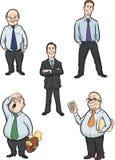 Диаграммы людей офиса шаржа Стоковые Фотографии RF