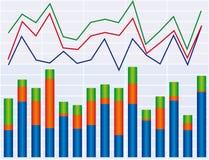 диаграммы иллюстрация вектора