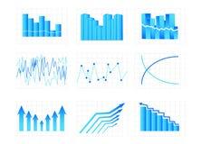 диаграммы Стоковые Изображения RF