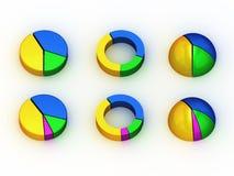 диаграммы 3d Стоковое фото RF