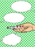 Диалог, пузыри текста Новости искусства шипучки беременности Корреспонденция сообщения в телефоне растр иллюстрация вектора