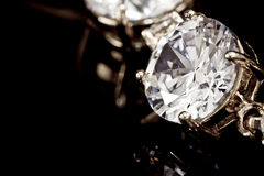 диаманты браслета Стоковое фото RF