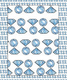 диаманты делают по образцу безшовное Стоковые Фото