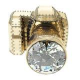 диаманты камеры золотистые Стоковое фото RF