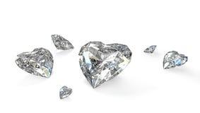 диаманты немногое сформированное сердце Стоковые Изображения RF