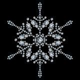 диаманты сделали снежинку Стоковая Фотография