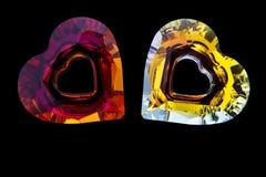Диаманты сердца форменные стоковая фотография rf