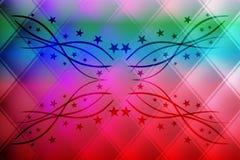 Диамант абстрактного вектора красочный волнистый с предпосылкой влияния 3 d, иллюстрацией вектора иллюстрация вектора