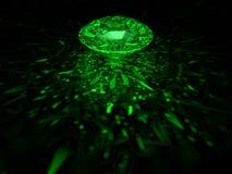 диамант зеленый Иллюстрация вектора