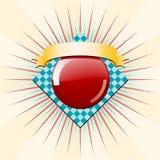 диамант круга взрыва знамени Стоковое фото RF