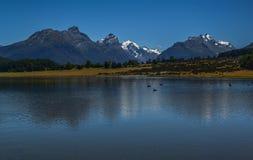Диамант Новая Зеландия 1 озера стоковое фото
