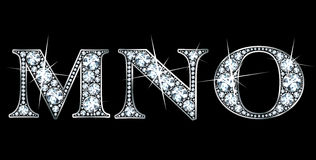 диамант m n o Стоковое Фото