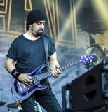 Диапазон 2016 в реальном маштабе времени тяжелого метала концерта Volbeat стоковые изображения