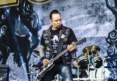 Диапазон 2016 в реальном маштабе времени тяжелого метала концерта Volbeat стоковая фотография