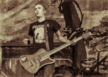 Диапазон 2016 в реальном маштабе времени тяжелого метала концерта Volbeat стоковое фото