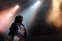 Диапазон колоколов саней выполняет на фестивале звука San Miguel Primavera Стоковое Изображение RF