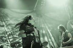 Диапазон металла завета живет в концерте 2016, фестиваль Hellfest Стоковые Изображения