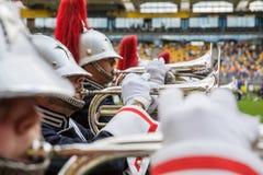 Диапазон музыки играя живую музыку во время представления Стоковые Фотографии RF