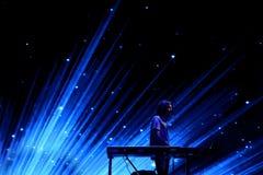 Диапазон музыки Лос Planetas выполняет в концерте на фестивале FIB Стоковые Фотографии RF