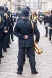 Диапазон музыки местной полиции в Милане Стоковые Изображения RF