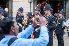 Диапазон музыки местной полиции в Милане Стоковые Изображения