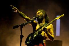 Диапазон рок-музыки Biffy Clyro выполняет в концерте на фестивале FIB Стоковое Фото