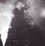 Диапазон тяжелого метала Saxon живет в болонья 2016 концерта Стоковые Изображения RF