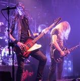 Диапазон тяжелого метала Saxon живет в болонья 2016 концерта Стоковое Изображение