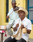 Диапазон улицы играя традиционную музыку в Гаване Стоковая Фотография RF