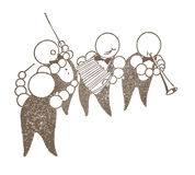 Диапазон шаржа музыкантов иллюстрация штока