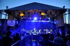 Диапазон Alborosie от ямайки выполняет в реальном маштабе времени на концерте Стоковая Фотография RF