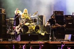 Диапазон Motorhead играя на фестивале 2013 Ursynalia Стоковое Изображение