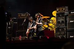 Диапазон Motorhead играя на фестивале 2013 Ursynalia Стоковые Изображения