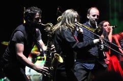 Диапазон Rotfront от Берлина выполняет концерт в реальном маштабе времени Стоковое Изображение