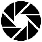 Диафрагма любит круговой символ для фотографии, технологии, гена иллюстрация штока