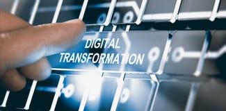 Дигитализирование, концепция преобразования цифров иллюстрация штока
