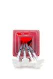 Диезы контейнер и шприцы изолированные на белизне Стоковое фото RF
