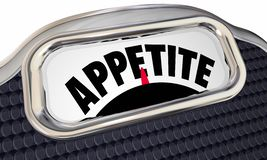 Диета голода обочины масштаба аппетита теряет вес Стоковое Фото
