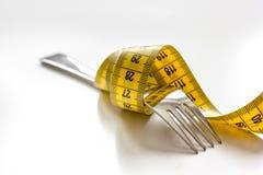Диета концепции и потеря веса на белой предпосылке стоковые фотографии rf