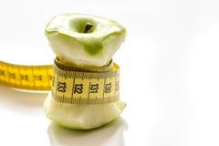 Диета концепции и потеря веса на белой предпосылке стоковое изображение rf