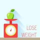 Диета плаката веса Стоковое Изображение