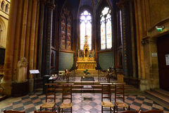 Дижон, Франция - 22-ое апреля 2016: собор Стоковые Фото