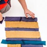 Дизайнерские прокладки заказов тканей для заплатки Стоковая Фотография RF