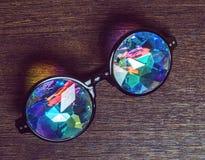 Дизайнерские стекла с стеклами калейдоскопа стоковое изображение