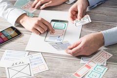Дизайнерское развитие app ux вебсайта чертежа Стоковые Изображения RF