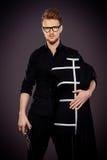 Дизайнер с куклой стоковая фотография rf