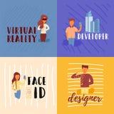 Дизайнер ID стороны разработчика иллюстрация штока