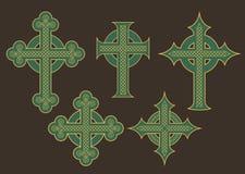 Дизайны вектора кельтского креста иллюстрация штока
